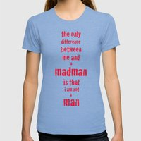 Madman Womens Fitted Tee Tri-Blue SMALL