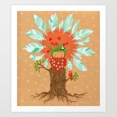 Ginger Birdfriend.  Art Print
