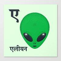 A For Alien Canvas Print