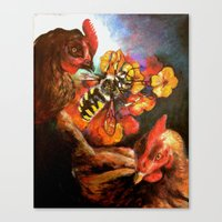 The Birds & The Bee Canvas Print