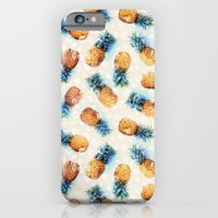 iPhone Cases featuring Pineapples + Crystals  by micklyn