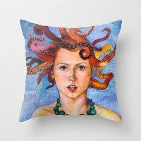 Alter-Ego Self Portrait #3 Throw Pillow