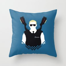 Here Come The Fuzz Throw Pillow