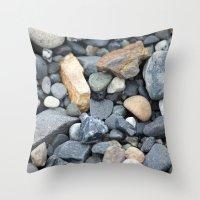 Rocks Pebbles Stones :: … Throw Pillow