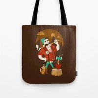 Green Thumberjack Tote Bag