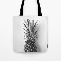 Black And White Pineappl… Tote Bag