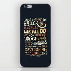 Don't Be Afraid To Suck iPhone & iPod Skin
