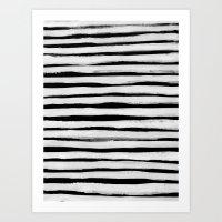 Black and White Stripes II Art Print