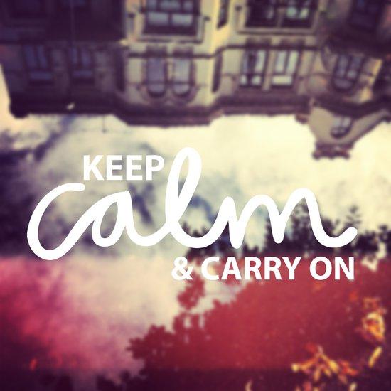 Keep Calm & Carry On Art Print