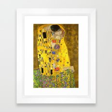 The Lovers Kiss After Klimt Framed Art Print
