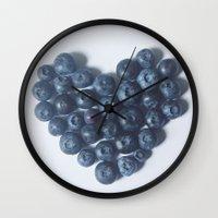 Blueberry Love Wall Clock