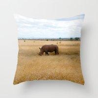 Rhino. Throw Pillow