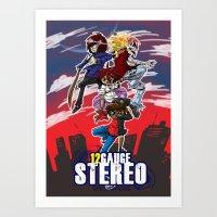 12 gauge stereo 2 Art Print