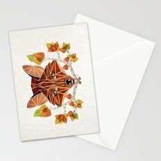 fox autumn Stationery Cards