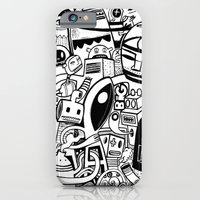 iPhone & iPod Case featuring BIG - BW by Exit Man