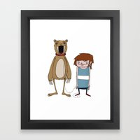 Pet Bear Framed Art Print