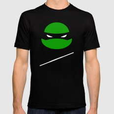 TMNT Donnie poster SMALL Black Mens Fitted Tee