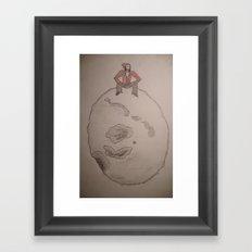 Man on the moon. Framed Art Print