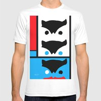 Modern Watcher Mens Fitted Tee White SMALL
