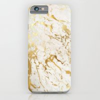 iPhone Cases featuring Gold marble by Marta Olga Klara