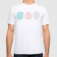 Pastel Brains Pattern Mens Fitted Tee Ash Grey SMALL