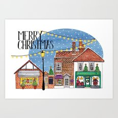 Special Edition Holiday Print: Merry Christmas by Charlotte Vallance Art Print