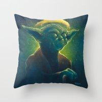 The Contemplation Of Sai… Throw Pillow