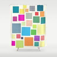 Shower Curtain featuring Squared by Cassia Beck