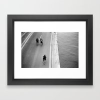 There they go. Framed Art Print