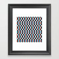 Blue Brain Waves Framed Art Print