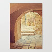 Jerusalem Courtyard Canvas Print