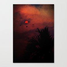 Marsian sunset Canvas Print