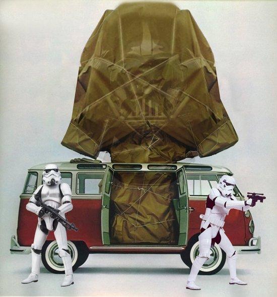 Vader Wrap Art Print