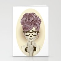 girl Stationery Cards featuring Fu*k U by Giulio Rossi