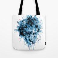 Skull Splash Tote Bag