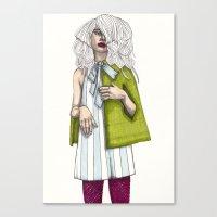 Fashion Illustration - Patterns and Prints - Part 2 Canvas Print