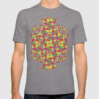 Vivid Dreams Pattern Mens Fitted Tee Tri-Grey SMALL