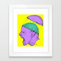 Brain Stain Framed Art Print
