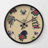 Pugs and the sea Wall Clock