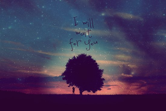 I WILL WAIT FOR YOU Art Print