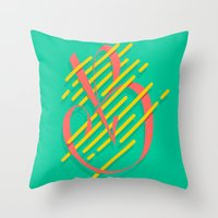Tropical B Throw Pillow