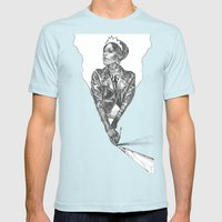 Queen of Carbon II Mens Fitted Tee Light Blue SMALL