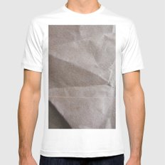 Brown bagging it. SMALL White Mens Fitted Tee
