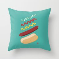 HUT DUG Throw Pillow
