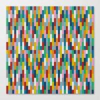 Bricks Rotate #2 Canvas Print