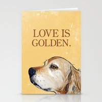Love Is Golden Stationery Cards