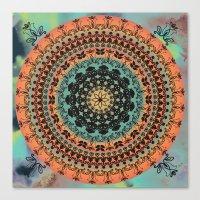 Sunset Desert Mandala Canvas Print