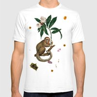 Monkey World: Amber-Ella Mens Fitted Tee White SMALL