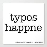 Typos Happne Canvas Print