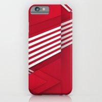 iPhone & iPod Case featuring Optical illusion_red by Glova Yevgeniya